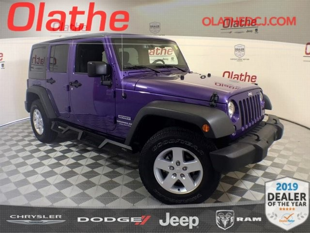 Jeep Certified Pre Owned >> Certified Pre Owned 2017 Jeep Wrangler Unlimited Sport Suv In Olathe